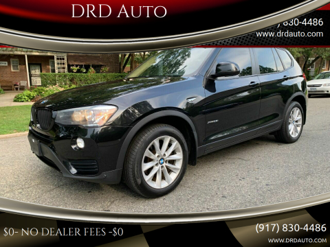 2016 BMW X3 for sale at DRD Auto in Flushing NY