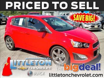 2015 Chevrolet Sonic for sale in Littleton, NH