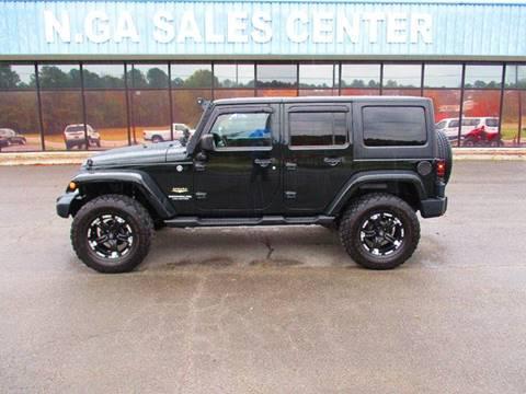 2012 Jeep Wrangler Unlimited for sale at NORTH GEORGIA Sales Center in La Fayette GA