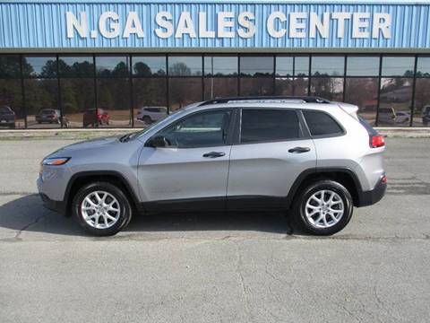 2016 Jeep Cherokee for sale at NORTH GEORGIA Sales Center in La Fayette GA
