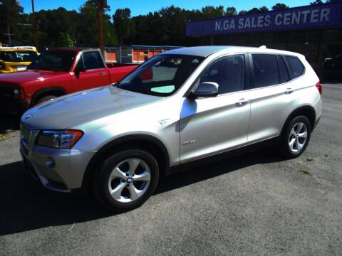 2012 BMW X3 for sale at NORTH GEORGIA Sales Center in La Fayette GA