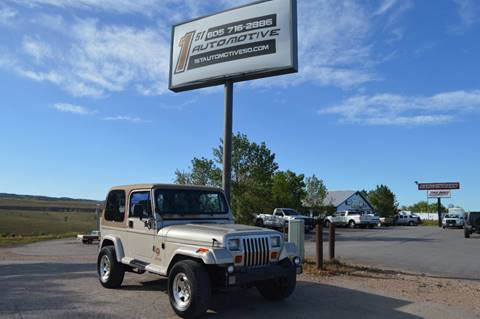1995 Jeep Wrangler for sale at 1st Automotive in Rapid City SD