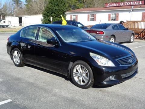 Sumter Auto Mall >> 2012 Infiniti G25 Sedan For Sale In Sumter Sc