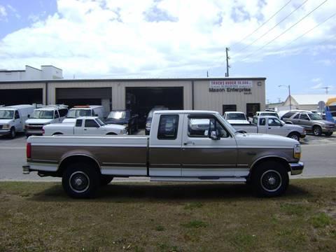1992 Ford F-250 for sale at Mason Enterprise Sales in Venice FL