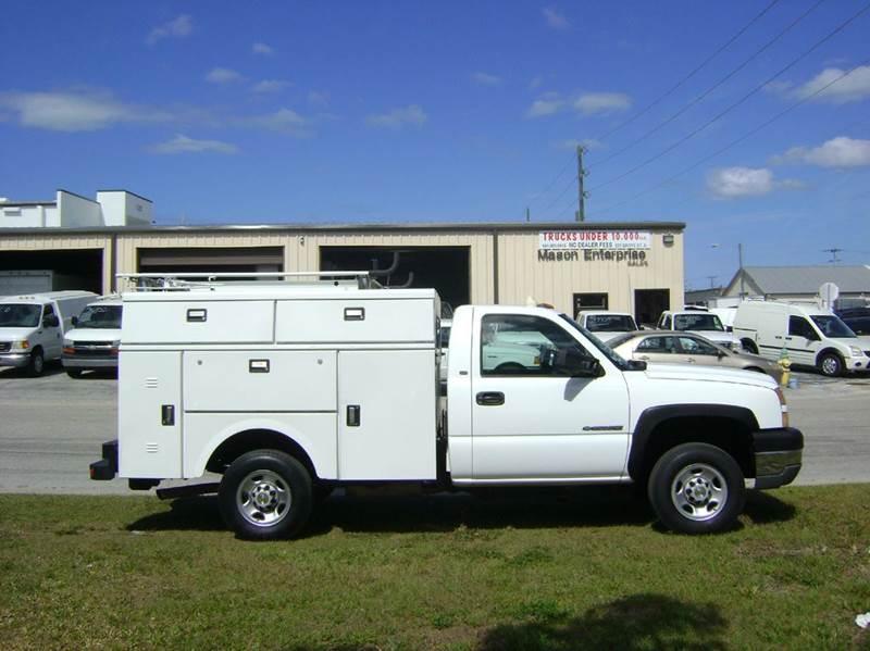 2005 Chevy 2500 Silverado for sale at Mason Enterprise Sales in Venice FL