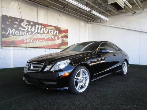 2013 Mercedes-Benz E-Class for sale at SULLIVAN MOTOR COMPANY INC. in Mesa AZ