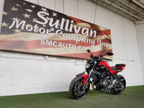 2017 Yamaha FZ07 for sale at SULLIVAN MOTOR COMPANY INC. in Mesa AZ