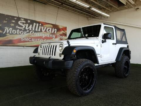 2018 Jeep Wrangler JK for sale at SULLIVAN MOTOR COMPANY INC. in Mesa AZ