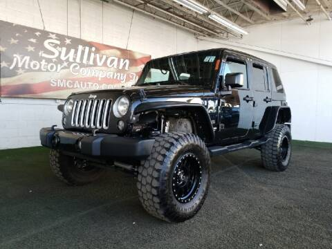 2016 Jeep Wrangler Unlimited for sale at SULLIVAN MOTOR COMPANY INC. in Mesa AZ