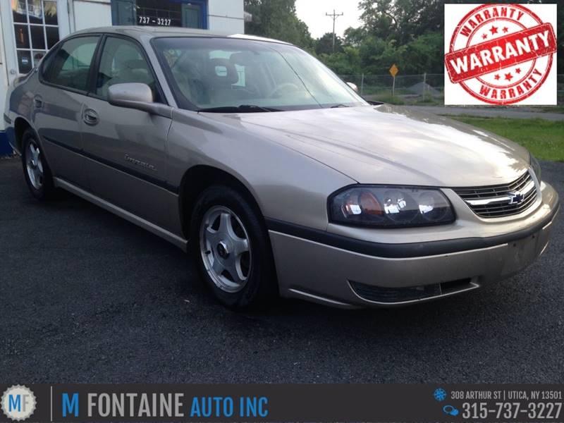 2001 chevrolet impala ls 4dr sedan in utica ny m fontaine auto inc 1985 Chevrolet Impala 2001 chevrolet impala ls 4dr sedan utica ny