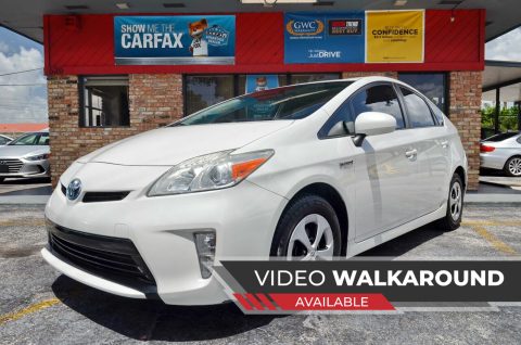 2013 Toyota Prius for sale at ALWAYSSOLD123 INC in North Miami Beach FL