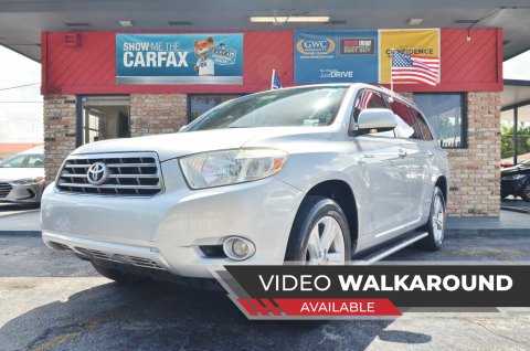 2008 Toyota Highlander for sale at ALWAYSSOLD123 INC in North Miami Beach FL