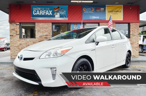 2012 Toyota Prius for sale at ALWAYSSOLD123 INC in North Miami Beach FL
