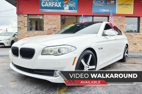 2012 BMW 5 Series for sale at ALWAYSSOLD123 INC in North Miami Beach FL
