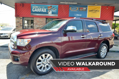 2008 Toyota Sequoia for sale at ALWAYSSOLD123 INC in North Miami Beach FL