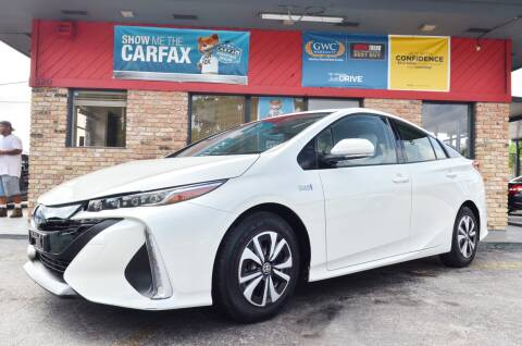 2017 Toyota Prius Prime for sale at ALWAYSSOLD123 INC in North Miami Beach FL