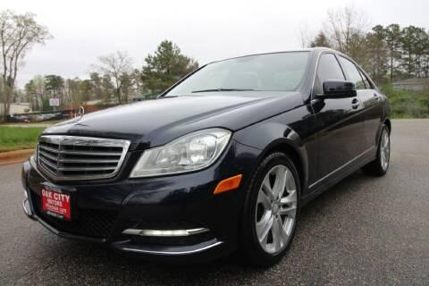 2013 Mercedes-Benz C-Class for sale at Oak City Motors in Garner NC