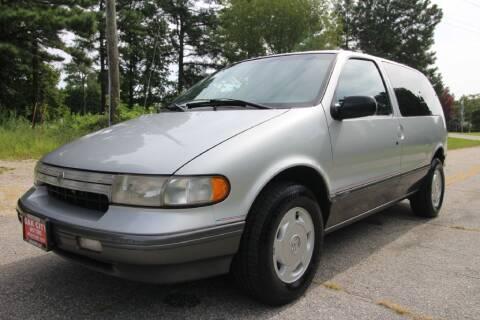 1995 Mercury Villager for sale at Oak City Motors in Garner NC