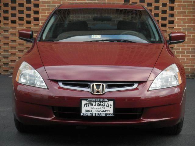 2004 Honda Accord for sale at Kevin's Kars LLC in Richmond VA