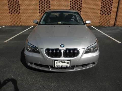 2007 BMW 5 Series for sale at Kevin's Kars LLC in Richmond VA