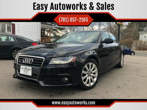 2010 Audi A4 for sale at Easy Autoworks & Sales in Whitman MA