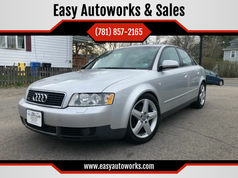 2003 Audi A4 for sale at Easy Autoworks & Sales in Whitman MA