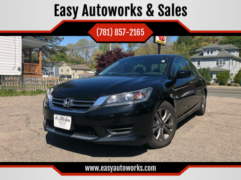 2013 Honda Accord for sale at Easy Autoworks & Sales in Whitman MA