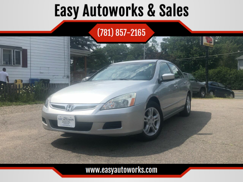2007 Honda Accord for sale at Easy Autoworks & Sales in Whitman MA