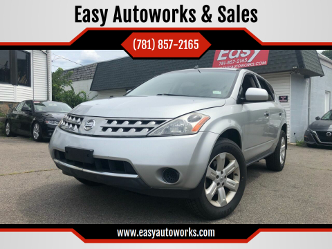 2006 Nissan Murano for sale at Easy Autoworks & Sales in Whitman MA