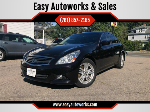 2013 Infiniti G37 Sedan for sale at Easy Autoworks & Sales in Whitman MA