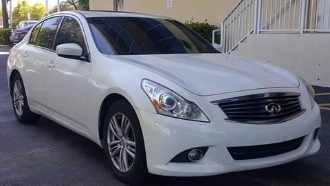 2012 Infiniti G25 Sedan for sale in Hollywood, FL