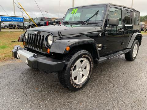 2009 jeep wrangler unlimited 4x4 sahara 4dr suv in greenville nc east carolina auto exchange. Black Bedroom Furniture Sets. Home Design Ideas