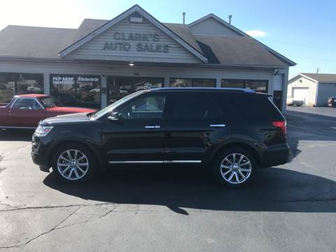 2016 Ford Explorer for sale at Clarks Auto Sales in Middletown OH