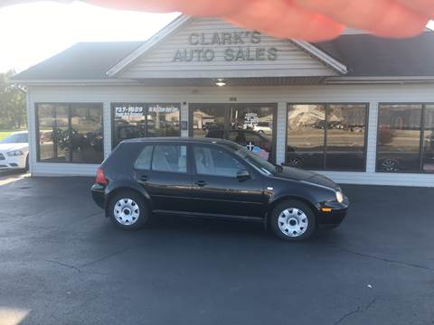 2000 Volkswagen Golf for sale at Clarks Auto Sales in Middletown OH
