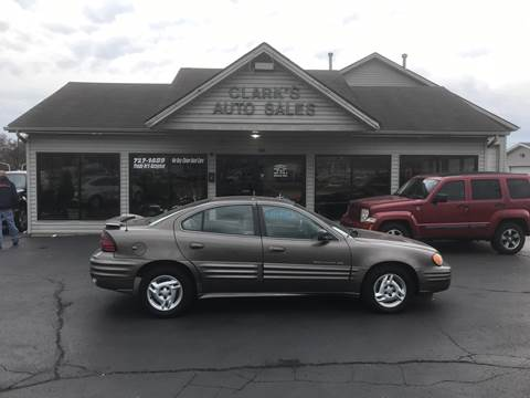 2001 Pontiac Grand Am for sale at Clarks Auto Sales in Middletown OH