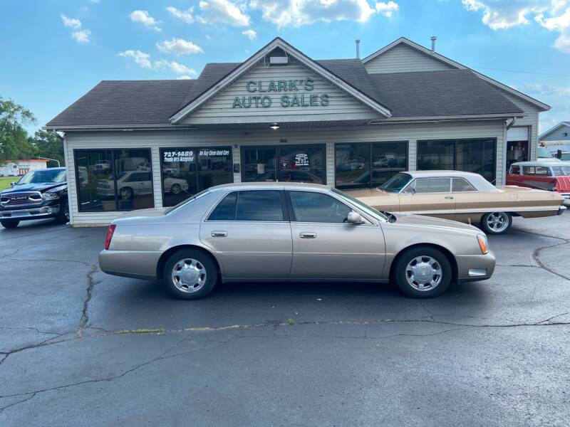 2001 Cadillac DeVille for sale at Clarks Auto Sales in Middletown OH