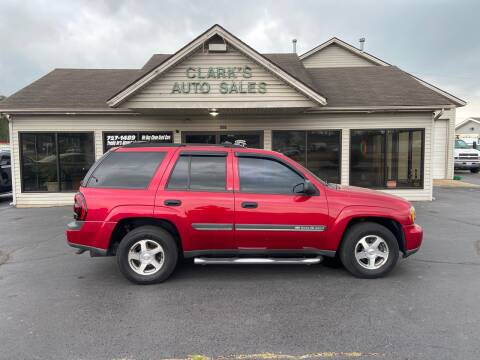 2002 Chevrolet TrailBlazer for sale at Clarks Auto Sales in Middletown OH