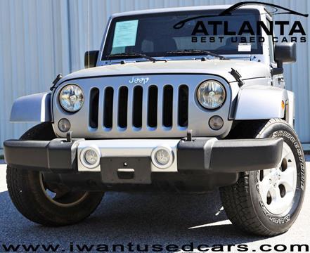 2015 Jeep Wrangler for sale in Norcross, GA