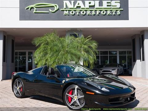 2014 Ferrari 458 Spider For Sale In Naples, FL