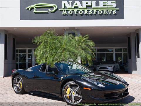 2013 Ferrari 458 Spider for sale at Naples Motorsports in Naples FL
