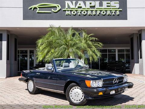 1988 Mercedes-Benz 560-Class 560 SL for sale at Naples Motorsports in Naples FL