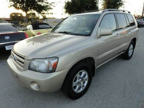 2004 Toyota Highlander for sale at Boss Motor Company in Dallas TX