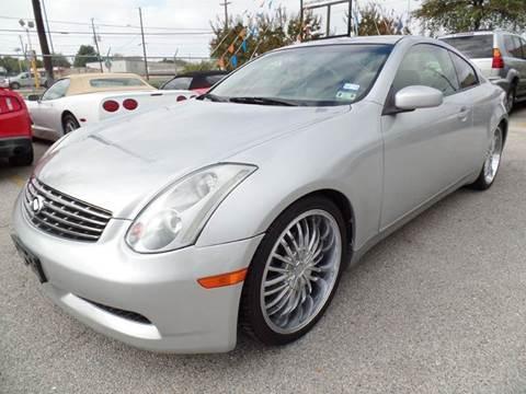 2003 Infiniti G35 for sale at Boss Motor Company in Dallas TX