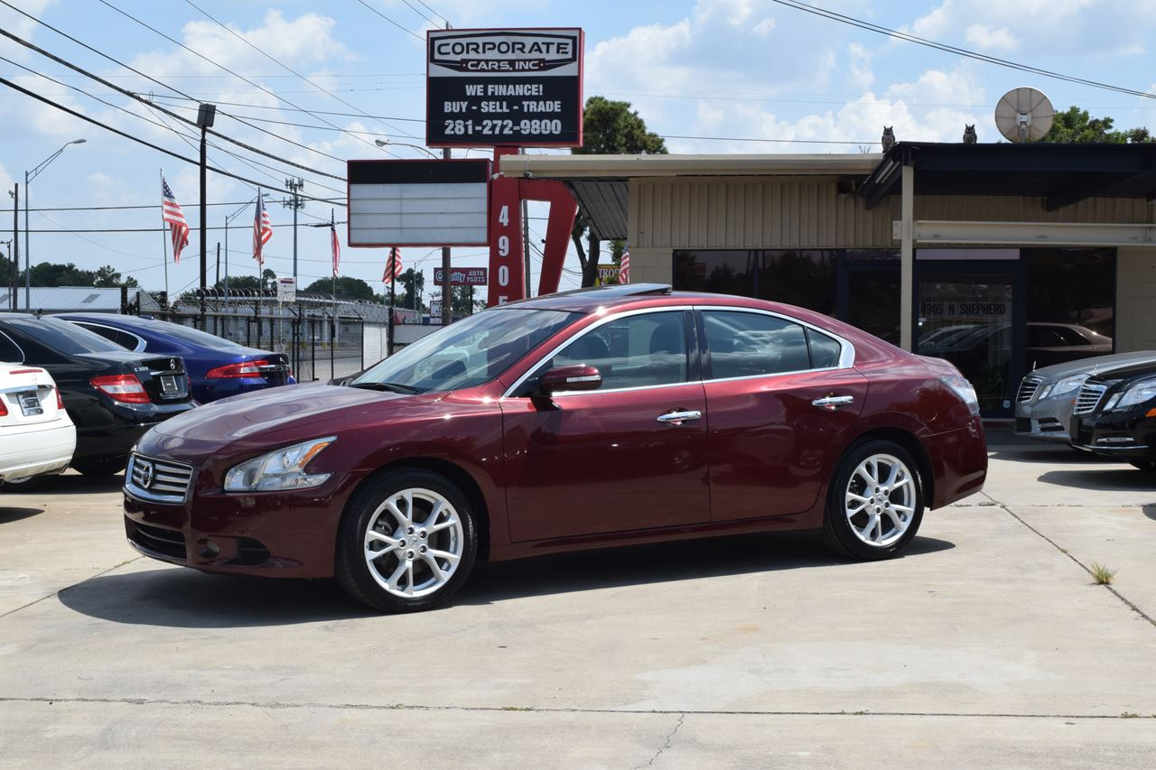 2013 nissan maxima 3 5 sv 4dr sedan in houston tx corporate cars inc. Black Bedroom Furniture Sets. Home Design Ideas