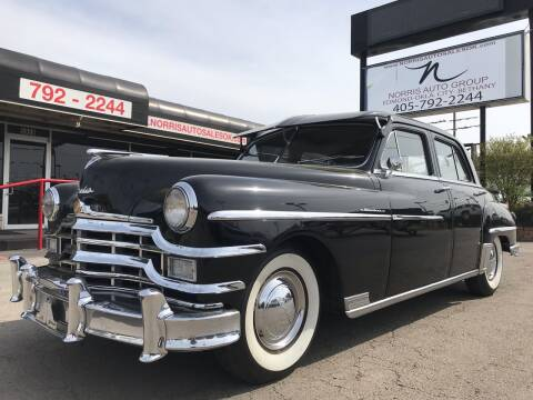1949 Chrysler Windsor for sale at NORRIS AUTO SALES in Oklahoma City OK