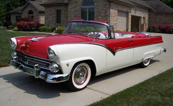 1955 Ford Sunliner for sale at Vintage Motor Cars LLC in Rossville GA