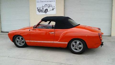 1972 Volkswagen Karmann Ghia for sale at Vintage Motor Cars LLC in Rossville GA