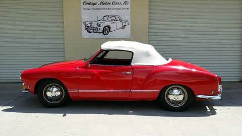 1970 Volkswagen Karmann Ghia for sale at Vintage Motor Cars LLC in Rossville GA