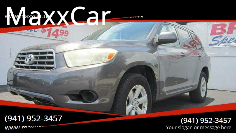 2008 Toyota Highlander for sale at MaxxCar in Sarasota FL