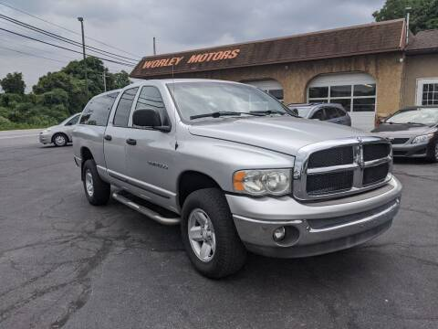 2002 Dodge Ram Pickup 1500 for sale at Worley Motors in Enola PA